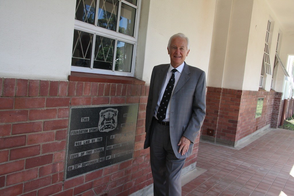 Allan at Primary Foundation cornerstone